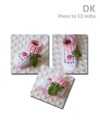 Cupcake Booties and Beanie - Prem to 12 months