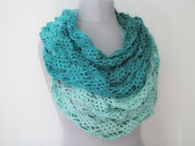 "crochet pattern infinity scarf ""wind & sea"""