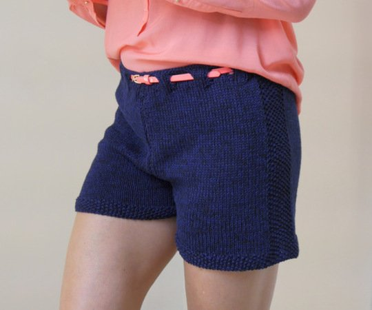 Strickanleitung - Shorts - kurze Hose  - DARK BLUE - No.171