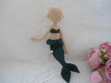 Mermaid doll body crochet pattern