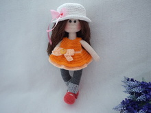pretty doll crochet pattern / Doll crochet pattern (30cm)