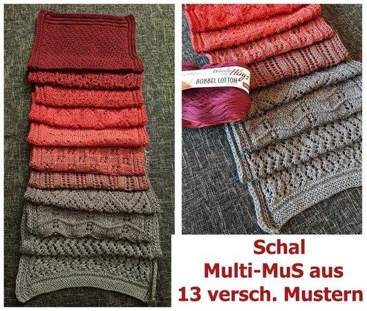 Schal Stricken Bobbel Merino Baumwolle