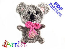 Koala Crochet Applique Pattern