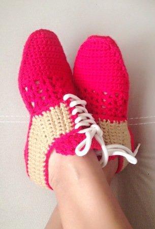 db3163c4ea74c Crochet Pattern for woman Oxford Shoes, Unisex house slippers- U.S. Big  girls and teens sizes 3-7, Women Us 3-12, with video links