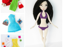 Pattern Deal - Doll Jessica Body and 3x Clothes