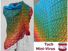 "Tuch ""Mini-Virus"" mit 1 Bobbel Woolly Hugs-COTTON häkeln"