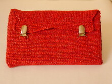 Crochet pattern for Tunesian clutch