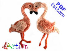 Flamingo Crochet Applique Pattern