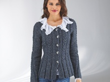 "Strickanleitung Damentrachtenjacke ""Tweed"" 754105"