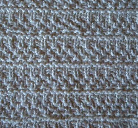 "Knit dishcloth or potholder in textured pattern ""This Cloth"""