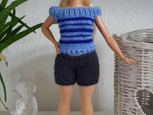 Curvy Barbie Top, Oberteil, Strickanleitung