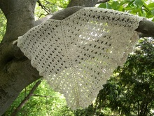 "Triangle Shawl crochet pattern ""Paean"""