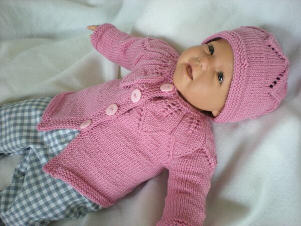 Babyjacke Mütze Stricken Rvo 3 Größen