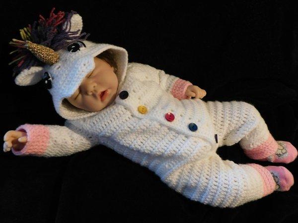 Häkelanleitung Baby Einhornoverall