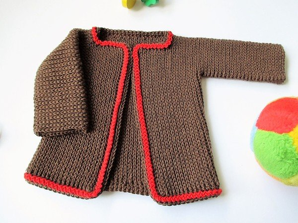Häkelanleitung Babyjacke Rippstrick-Style - Gr. 56/62