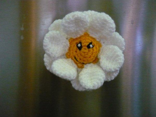 Häkelanleitung Blume Magnet