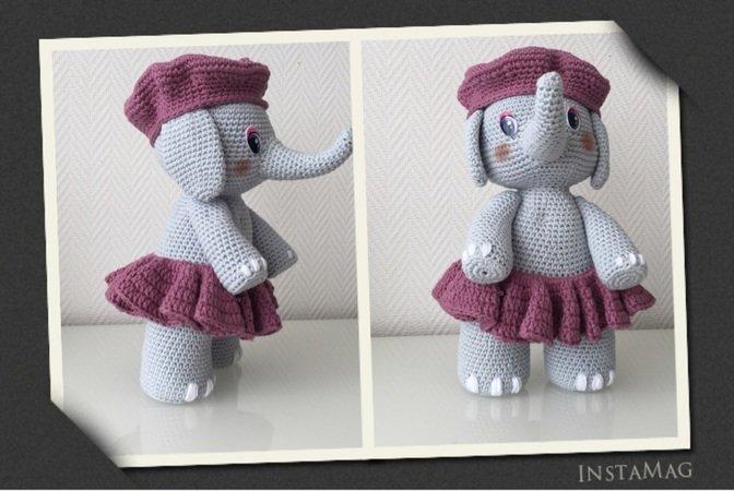 Elefant häkeln // Elefantendame häkeln // DIY