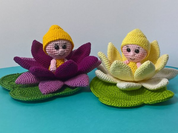 Crochet Pattern Flower Child Water Lily