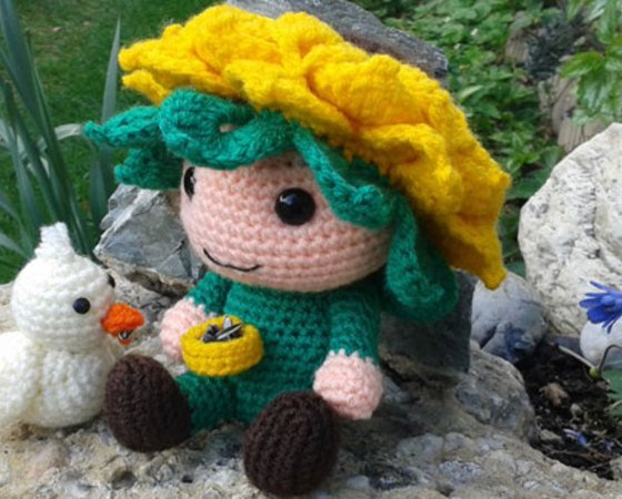 "Crochet Pattern Flower Child ""Sunny"""