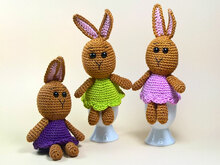 Crochet Pattern Egg Cozies Bunnies