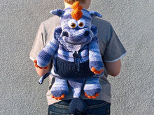 Crochet Pattern  Dragon Backpack