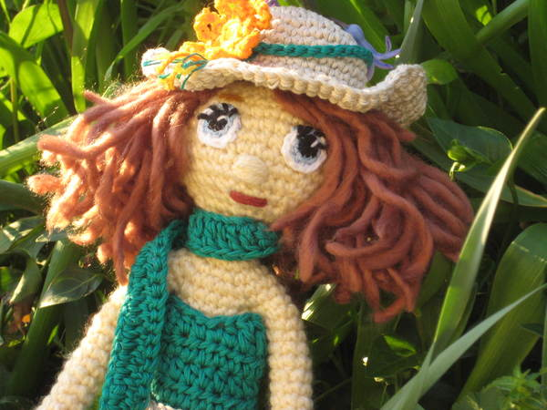 Crochet doll pattern - summer outfit