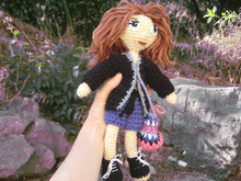 Doll with changeable clothes - crochet pattern