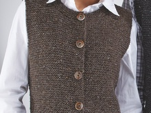 "Strickanleitung Damentrachtenweste ""Tweed"" 754202"