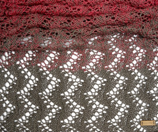 Knitting Pattern - Shawl TaBeeLa - gradient colored - No.177/E