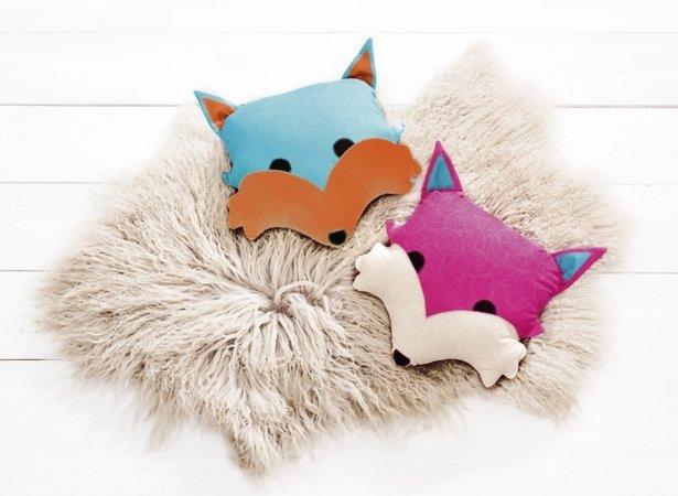 Fuchs set nähen rucksack kissen und stickbild