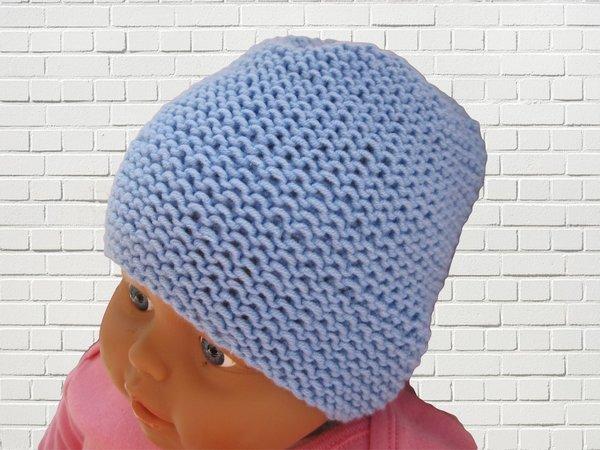 Strickanleitung Babymütze bis 6 Monate- für Jungen und Mädchen ...