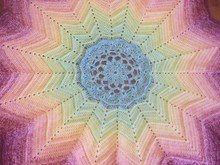 "Crochet Pattern ""Lotus"" blanket with 12 peaks"