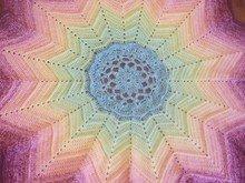 Crochet Pattern Lotus Blanket With 12 Peaks