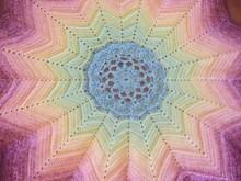 Häkelanleitung 12 Zacken Decke Lotus