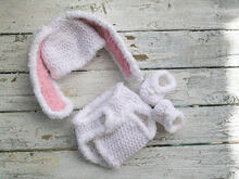 Bunny Set - Crochet - Pattern - Size Newborn