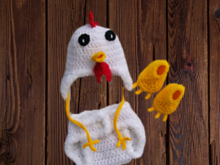Crochet Pattern - Baby Chicken - Clothing Set