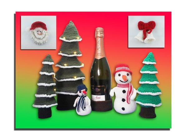 Häkelanleitungen - Weihnachtsdekoration Sparpaket