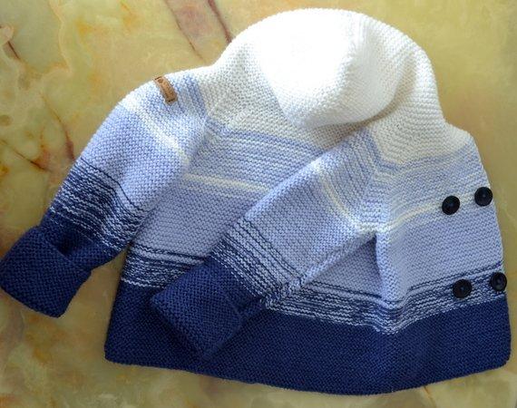 Strickanleitung Baby Jacke Mit Kapuze Oder Kragen In 3 Größen