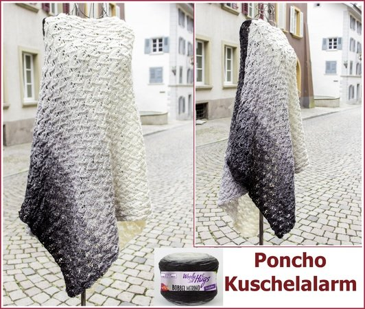 poncho stricken f r bobbel alle gr. Black Bedroom Furniture Sets. Home Design Ideas