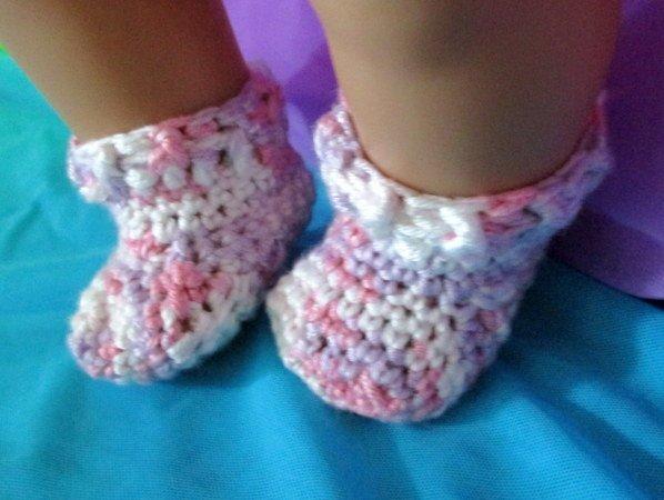 Häkelanleitung Socken für Babypuppen Fußlänge 5,5 cm