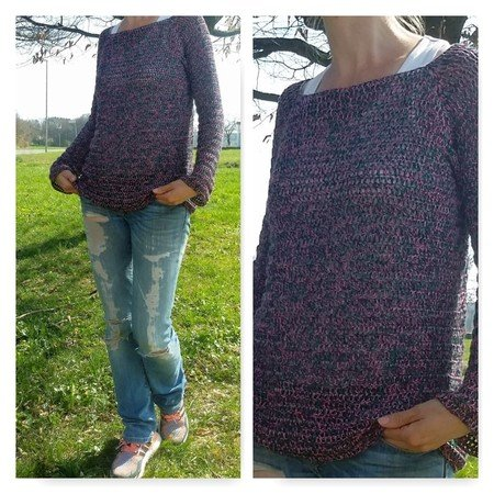 "Crochet Patter Sweater ""Spring"""