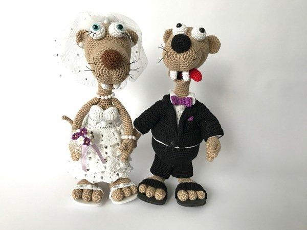 Seppl das bayrische Wiesel, im Hochzeits-Outfit, Häkelanleitung