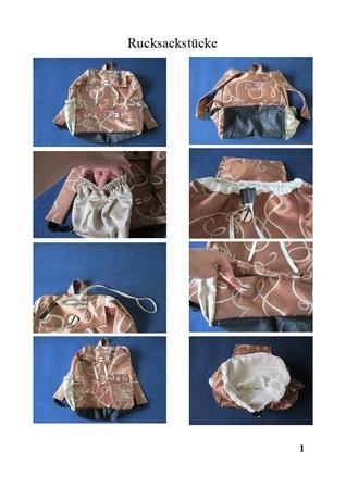 Schnittmuster Schule Rucksack Reise Tasche 3 Größe