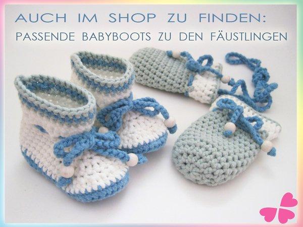 Häkelanleitung: Baby Fäustlinge häkeln (0 - 1 Jahre)