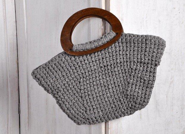 Tasche mit Taschenhenkeln häkeln
