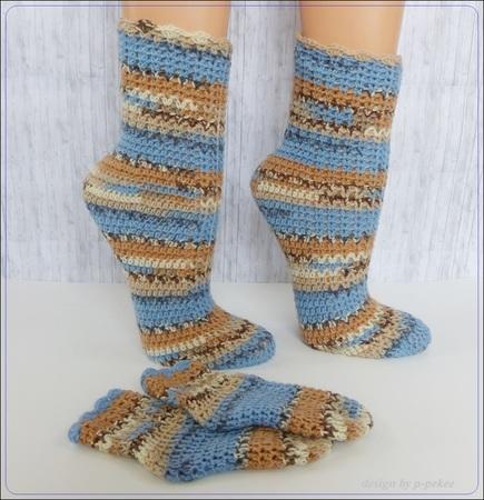 Socken Häkeln Einfache Ferse Gr 22 45