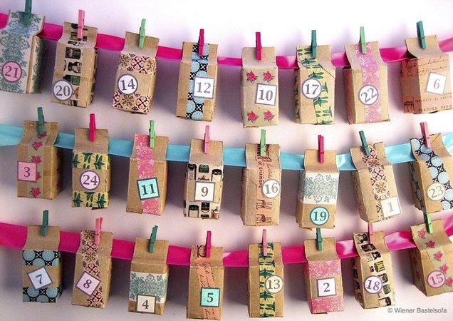 Adventskalender Geschenkboxen Aus Wc Papier Rollen Upcycling
