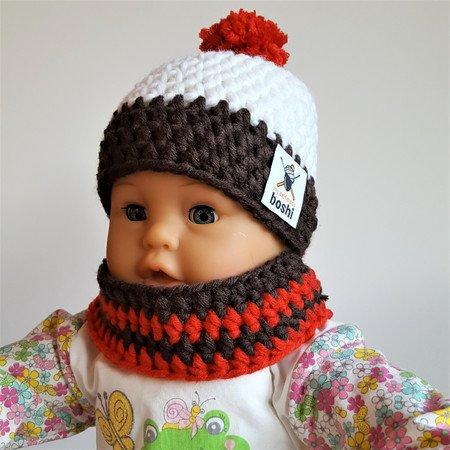 Häkelanleitung Muffin mit angehäkeltem Schal für Babys und Kleinkinder