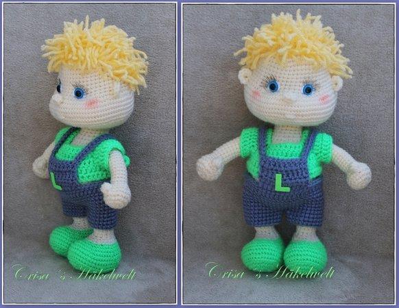 Puppe häkeln // Junge ++ blond ++ blaue Augen