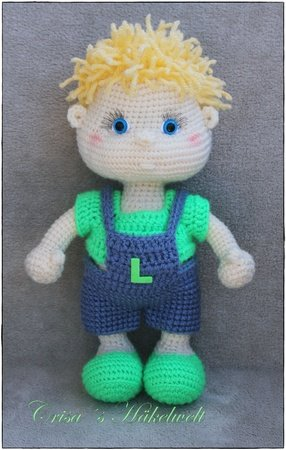 Pattern doll in overall ++ Leon ++ XL
